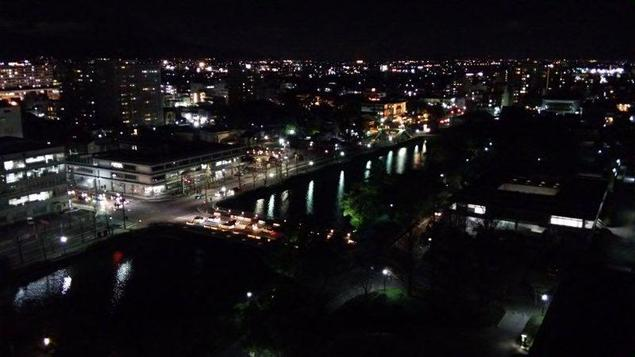 佐賀県庁(新館) 展望ホールの夜景