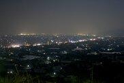 向麻山公園山頂広場の夜景