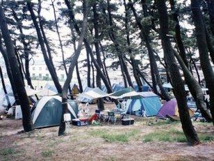 象潟海水浴場キャンプ場