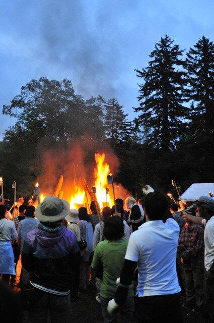 旭岳山の祭り ヌプリコロカムイノミ
