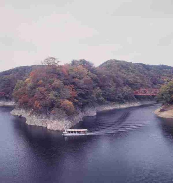 帝釈峡(神龍湖)の紅葉