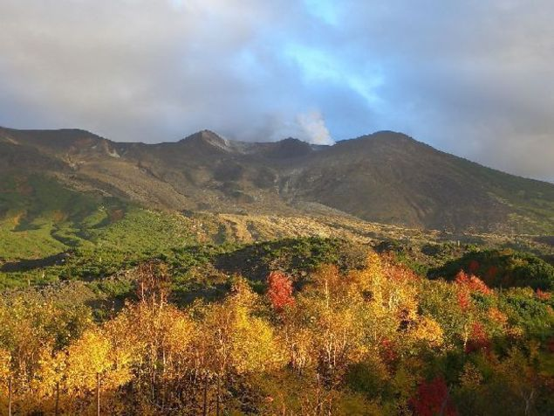 十勝岳望岳台の紅葉