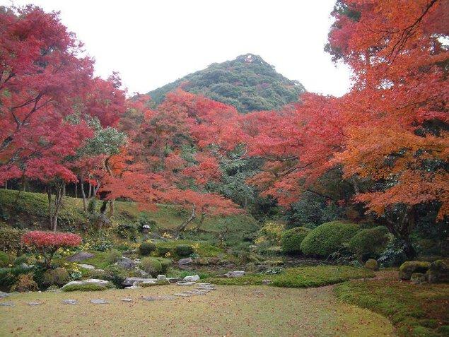 清水寺本坊庭園の紅葉