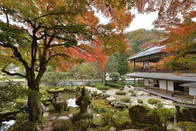 堀庭園の紅葉