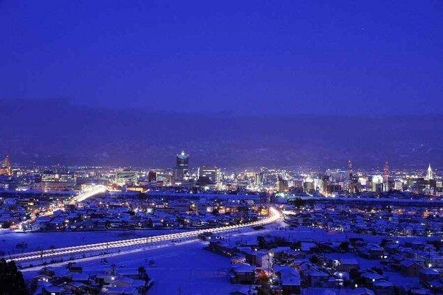 呉羽山公園の夜景