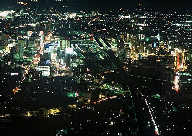 信夫山公園の夜景