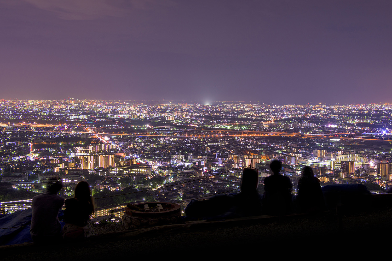 五月山公園の夜景