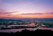高知県立五台山公園の夜景