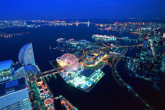 横浜ランドマークタワー69階展望フロア スカイガーデンの夜景