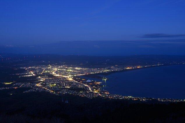 釜臥山展望台の夜景