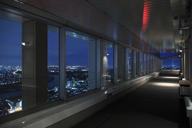 市川市アイ・リンクタウン展望施設の夜景