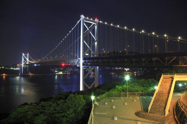 壇之浦PAの夜景