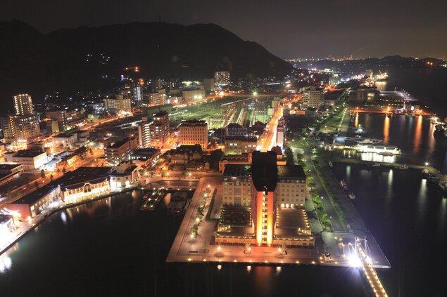 門司港レトロ展望室の夜景