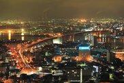 高塔山公園の夜景