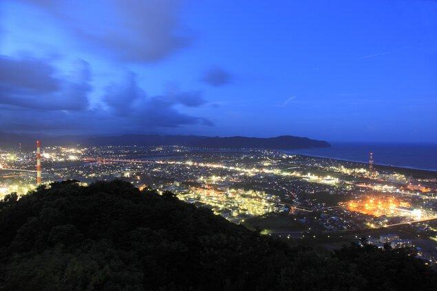 愛宕山展望台の夜景