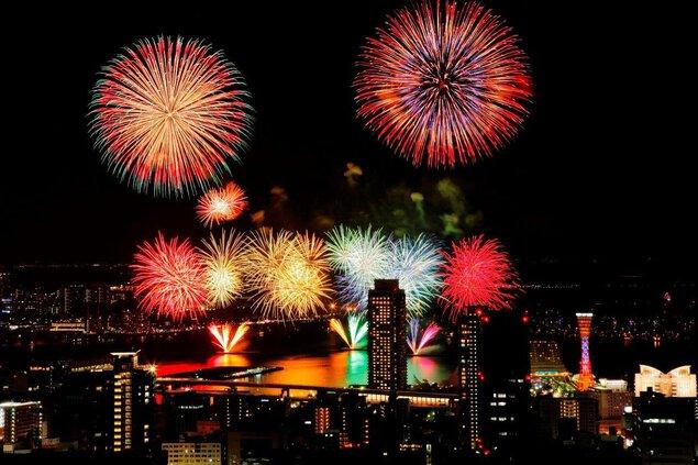兵庫県政150周年記念イベント 第48回みなとこうべ海上花火大会
