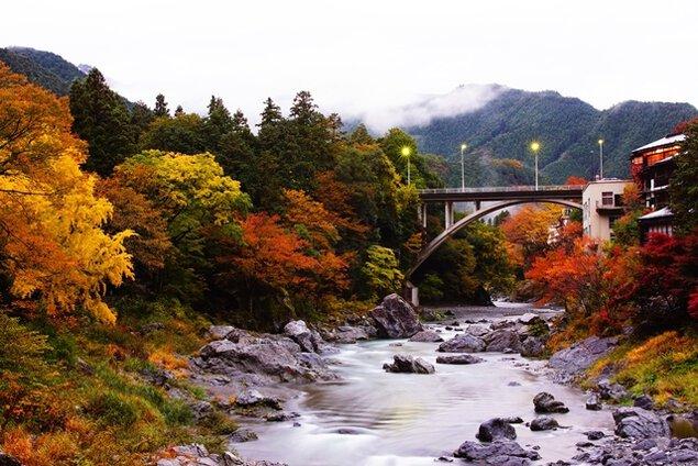 御岳渓谷の紅葉