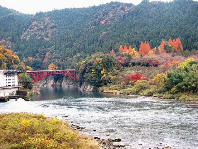 蘇水峡の紅葉