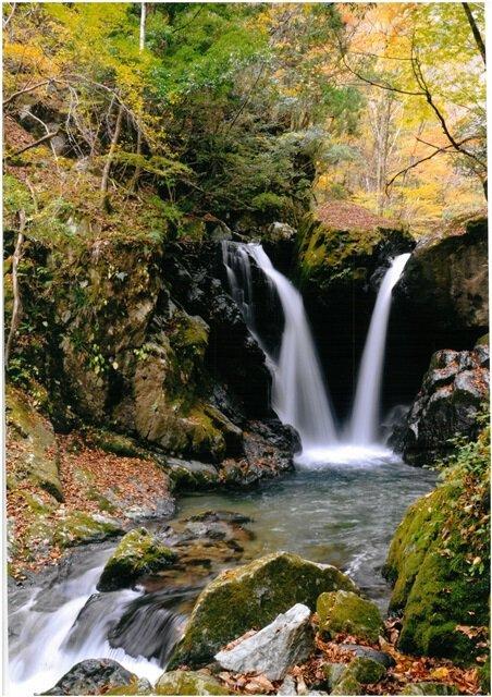 音水渓谷の紅葉