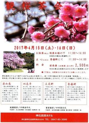 神石高原ホテル 観桜茶会