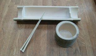 みちのく公園里山地区 森の工作体験 竹の食器づくり
