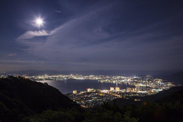 比叡山ドライブウェイ(夢見が丘)の夜景