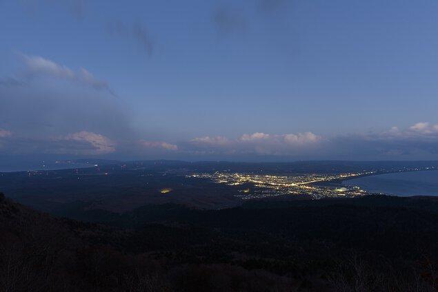 むつ湾展望台の夜景