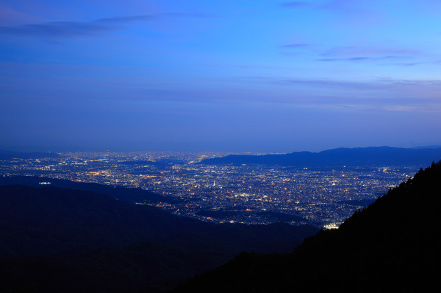 比叡山ドライブウェイ(四明嶽駐車場)の夜景