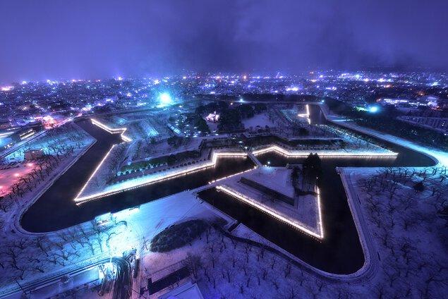 五稜郭タワーの夜景