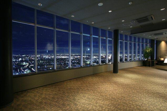 岐阜シティ・タワー43 展望室の夜景