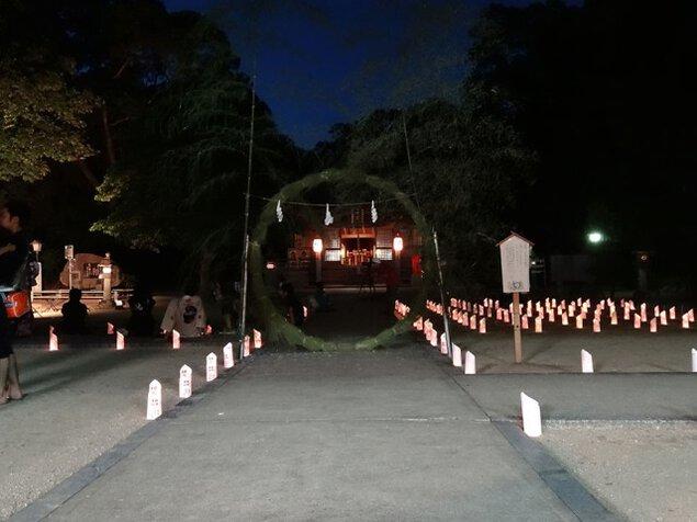 鏡神社 夏越祭・灯明祭・奉納ライブ・骨董市