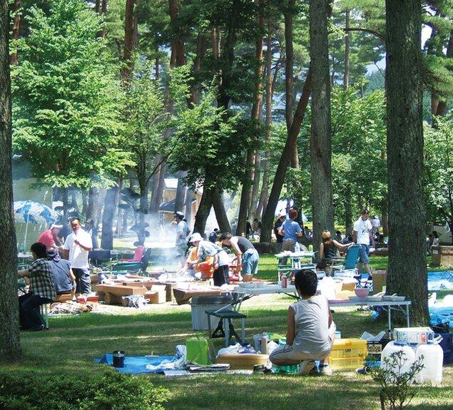 与田切公園キャンプ場