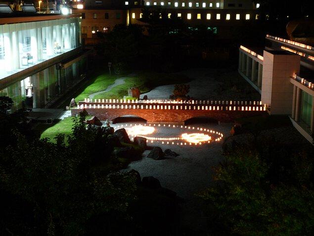 『灯明会&プチ修行』-夏の夜に輝く浄土の蓮(はな)