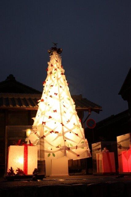 和紙クリスマスツリー2017