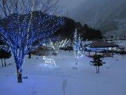 栃尾温泉冬のイルミネーション