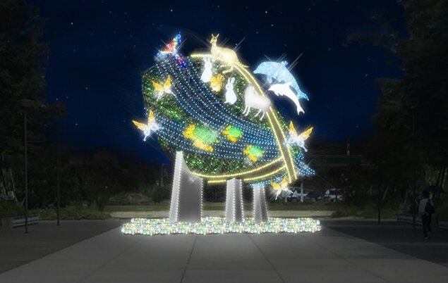 どんでん広場、太田川駅西大屋根広場、ロータリー前