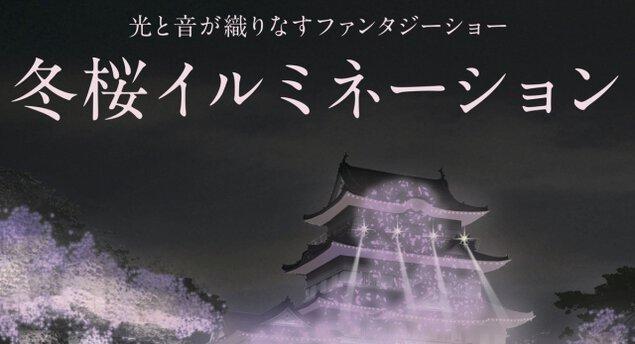 冬桜イルミネーション~光と音が織りなすファンタジーショー~
