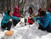 天然メイプルウォーター採取&雪原カフェ