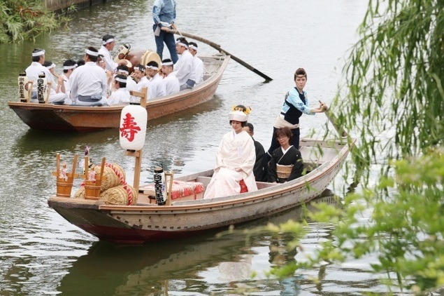 第67回水郷潮来あやめまつり「嫁入り舟」
