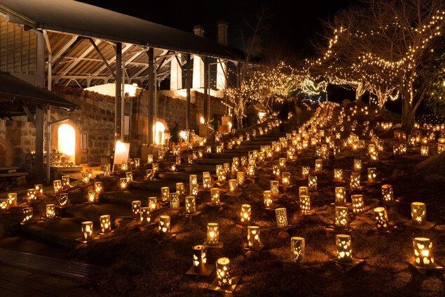 TAKEO・世界一飛龍窯灯ろう祭り2019「光のバレンタイン in 飛龍窯」