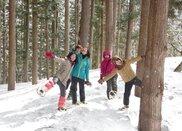 小谷村 冬の魅力体験ツアー メイプル採取体験・除雪体験・移住者交流