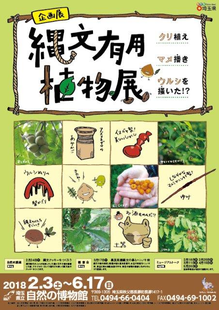 企画展「縄文有用植物~クリ植えマメ播きウルシを掻いた!?~」
