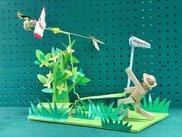 土曜工作「虫が飛び回る飛行塔を作ろう」
