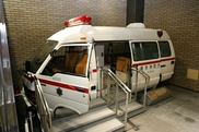 消防自動車乗車撮影会(トヨタ救急車)