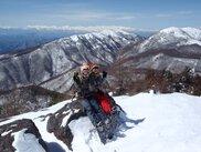 冬山登り スノーシュー トレッキング 「ダブルピークハント」浅間 軽井沢
