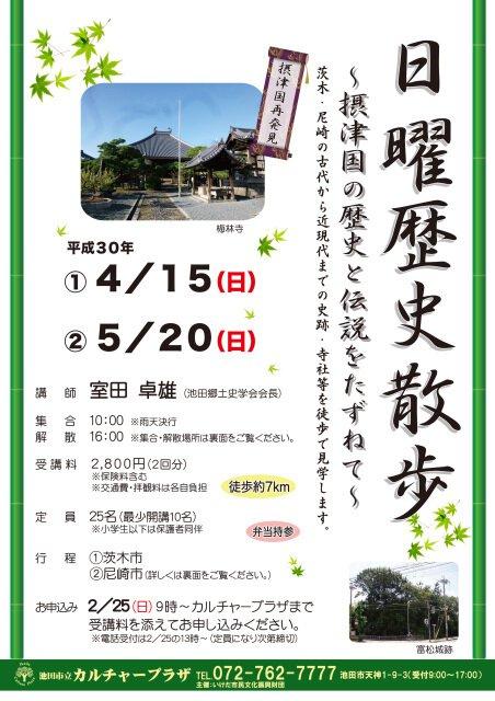 日曜歴史散歩~摂津国の歴史と伝説をたずねて~