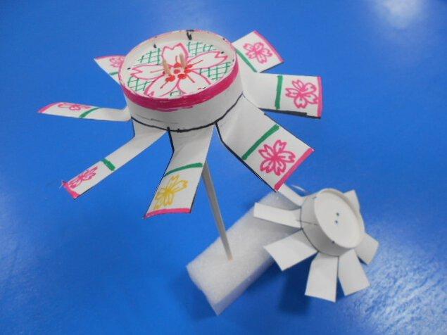 工作教室「紙コップター」