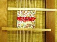 体験コーナー「かんたんさき織り」