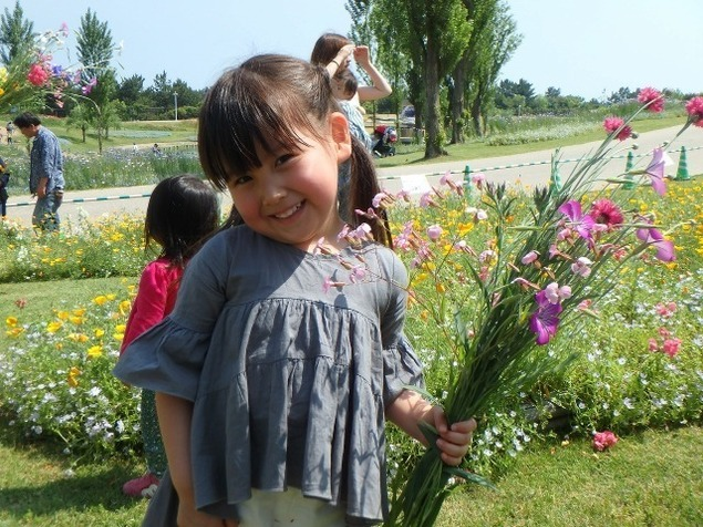 淡路島国営明石海峡公園 お花のつみとり体験