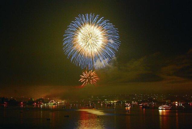 第71回塩竈みなと祭 前夜祭花火大会 ひかりピア塩竈復活
